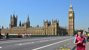 Westminster Bridge without cars