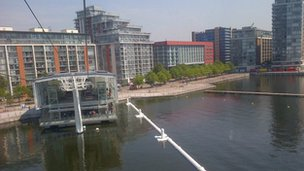 View from Emirates Air Line cable car