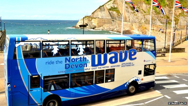 Stagecoach bus, north Devon