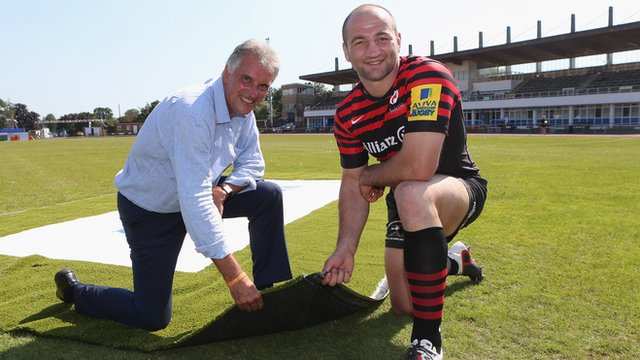 Saracens chairman Nigel Wray and captain Steve Borthwick