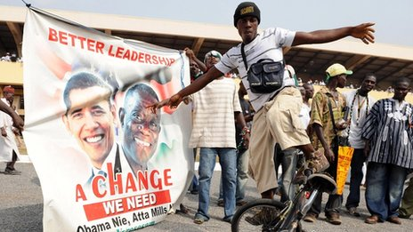 A supporter of John Atta-Mills (January 2009)