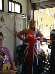 Vanessa Feltz with bbctorchcam