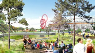 Artist&#039;s impression of the South Plaza