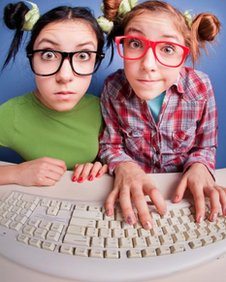 Girl geeks, copyright Thinkstock
