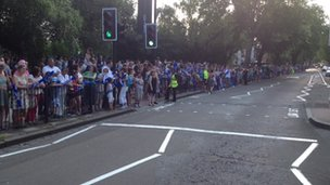 Crowds in Priory Road, Haringey