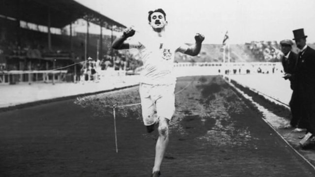 A runner in the 1908 Olympic Games