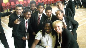 School Reporters with Ade Adepitan