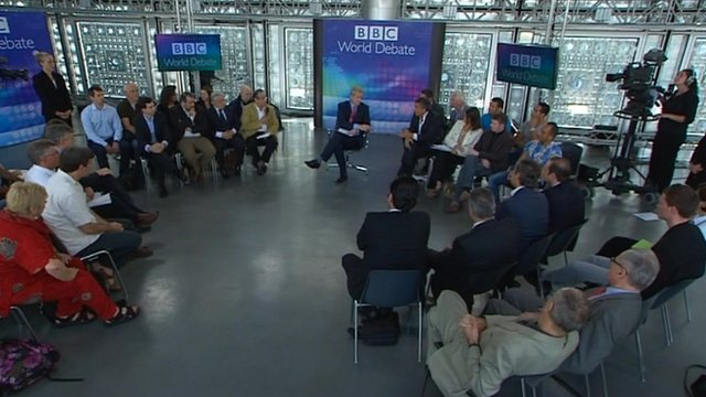 The BBC World Debate discussion
