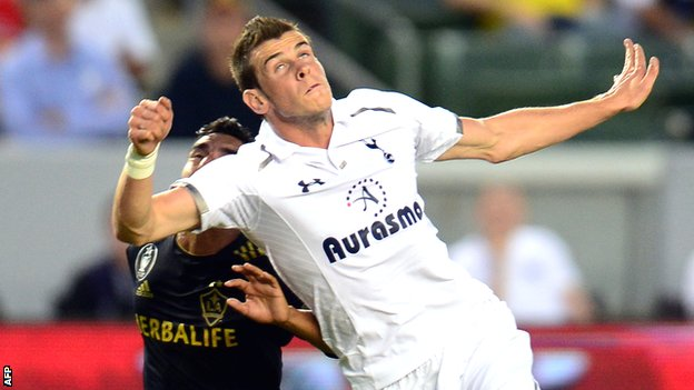 Tottenham's Gareth Bale in action against LA Galaxy
