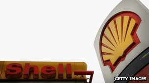 A Royal Dutch Shell petrol station
