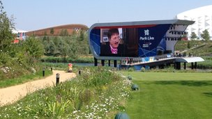 Big screenin Olympic Park