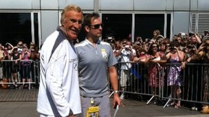 Bruce Forsyth (left) set to caary the flame