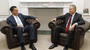 Mitt Romney and Tony Blair