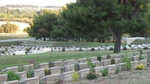War graves in Gallipoli