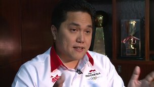 Erick Thohir, chief mission of the Indonesian Olympics team
