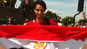 Egypt fan Mohammed Abid is studying in Cardiff