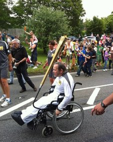 Torch relay in Nutfield