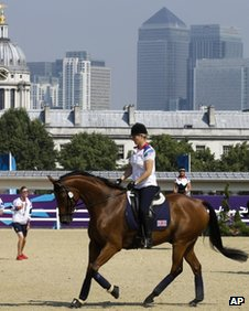 Team GB members at Greenwich