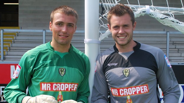 Burton keepers Ross Atkins (right) and Dean Lyness