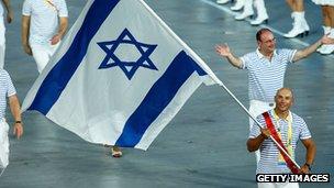 Israeli athletes at the Beijing Olympics