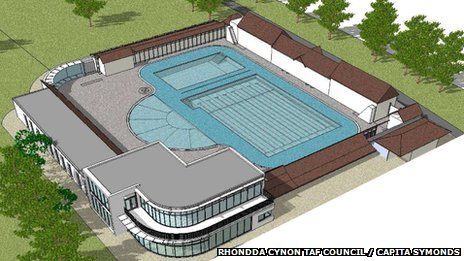 Artist&#039;s impression of how the lido would look