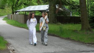 Balmoral Castle torchbearer