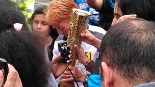 Torchbearing in Cheetham Hill