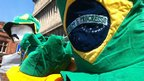 Brazilian hats were on sale near the Millennium Stadium