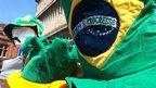 Brazilian hats were on sale near the Millennium Stadium