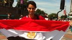 "Egypt fan Mohammed Abid, 22, who is studying in Cardiff said: ""I haven't seen the city so lively for quite a long time."""