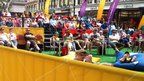Many more people gathered at The Hayes to watch the football and soak up the sunshine