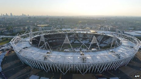 About 80,000 people will be in the Olympic Stadium for the opening ceremony