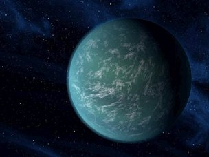 Artist's rendition of Kepler 22b
