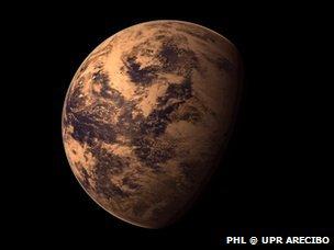 Artist's rendition of Gliese 667Cc PHL @ UPR Arecibo