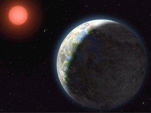 Artist's rendition of Gliese 581g