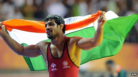 Indian wrestler Sushil Kumar