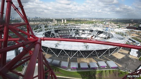 Olympic Stadium seen from the top of the ArcelorMittal Orbit