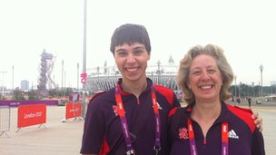 Volunteers at Olympic Park