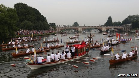The Gloriana on the Thames