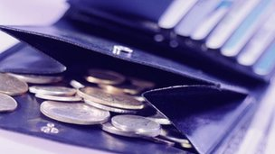 Coins in wallet