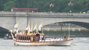 Gloriana near Puntey Bridge