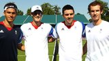 Ross Hutchins, Jamie Murray, Colin Fleming and Andy Murray