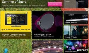 Freesat webpage