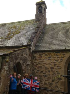 Bell ringing in Longformacus in the Lammermuir hills in the Scottish Borders