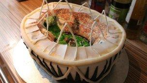 Olympic stadium cake