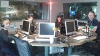 BBC School Reporters from Newbattle High School, just before they are about to go on air at BBC Radio Scotland