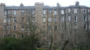 Edinburgh tenement building
