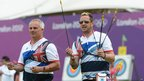British archers Simon Terry, left, and Larry Godfrey