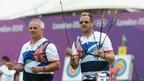 British archers Simon Terry, left, and Larry Godfrey