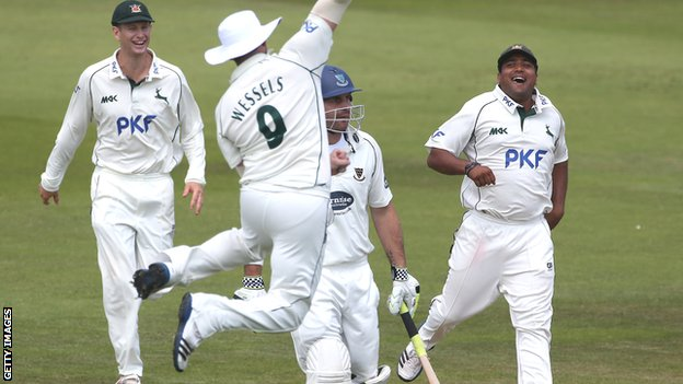 Nottinghamshire celebrate